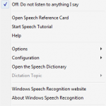 Speech Recognition in Windows Vista