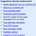 Suggest new features for GMail