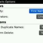 Blackberry Contact Sync