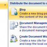 Blog using MS Word 2007