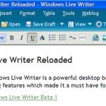Windows Live Writer Reloaded