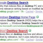 """Search for """"Desktop Search"""""""