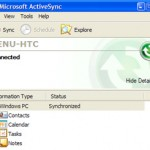 Setup ActiveSync via Bluetooth